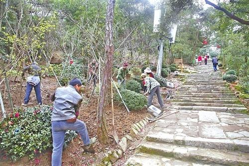 福州鼓山千年登山道 配备花径水涧