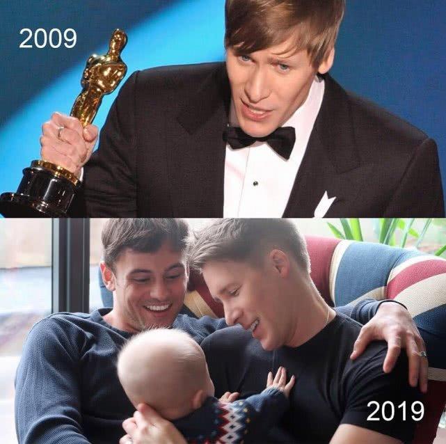 戴利男友晒照感叹十年变化 怀抱孩子称梦想成真