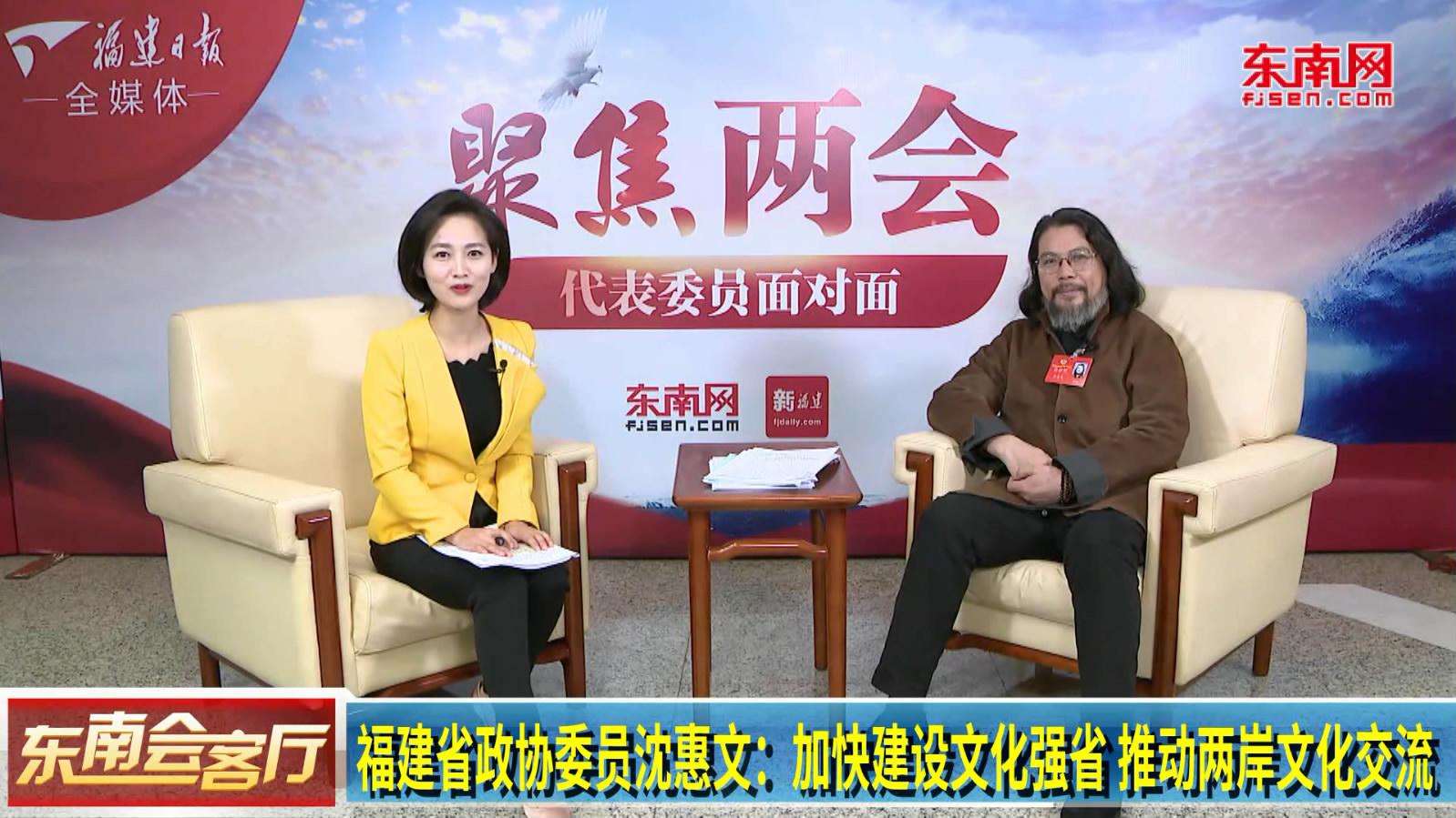 福建省政协委员沈惠文:加快建设文化强省 推动两岸文化交流