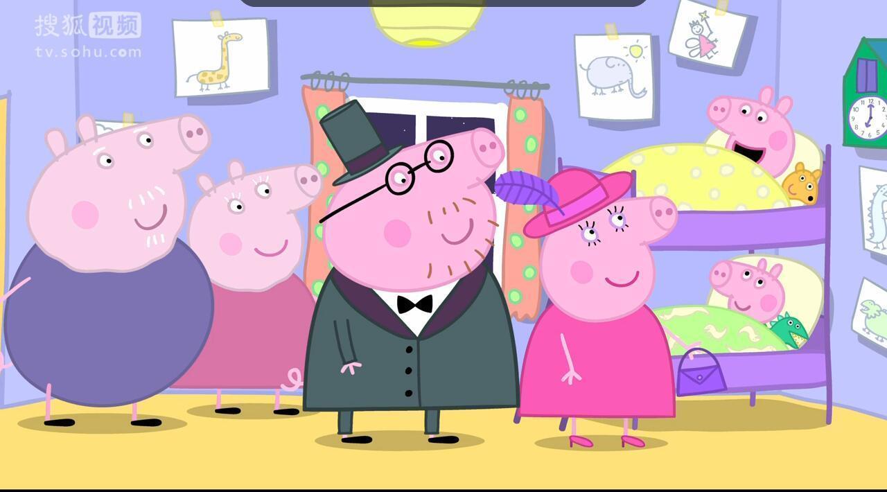 这是一部英国动画片,每集只有五分钟,一开场佩奇就跳出来介绍自己一