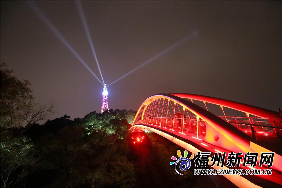 """福州金鸡山公园照明升级 醉人夜景成""""打卡""""好去处"""