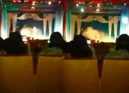 女歌手演唱会飙高音当场猝死,台下的歌迷惊吓不已