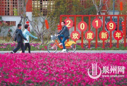 泉州各大公园盛装迎2019年春节 串起生态走廊