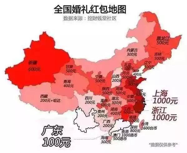 看完这张压岁钱地图,一堆人想投胎到福建!