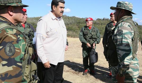 马杜罗启动军演 委内瑞拉:马杜罗政府准备好与反对派对话
