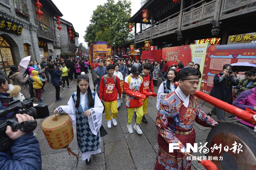 """传统民俗与网红元素碰撞 福州创新""""迎财神"""""""