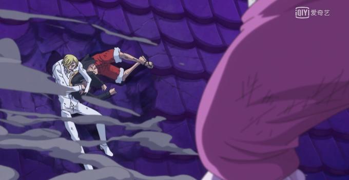 海贼王872集:原来动画组也是个山黑!山治被削弱得扛不住一拳?