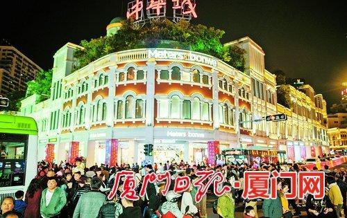 春节时期厦门26家主阛阓贩卖额8332万元 同比下跌7.16%