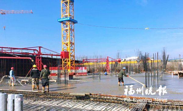 福州滨海新城多个项目全力确保进度