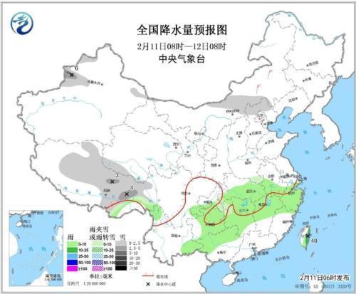 未来三天西北华北等地将有降雪 南方多阴雨天气