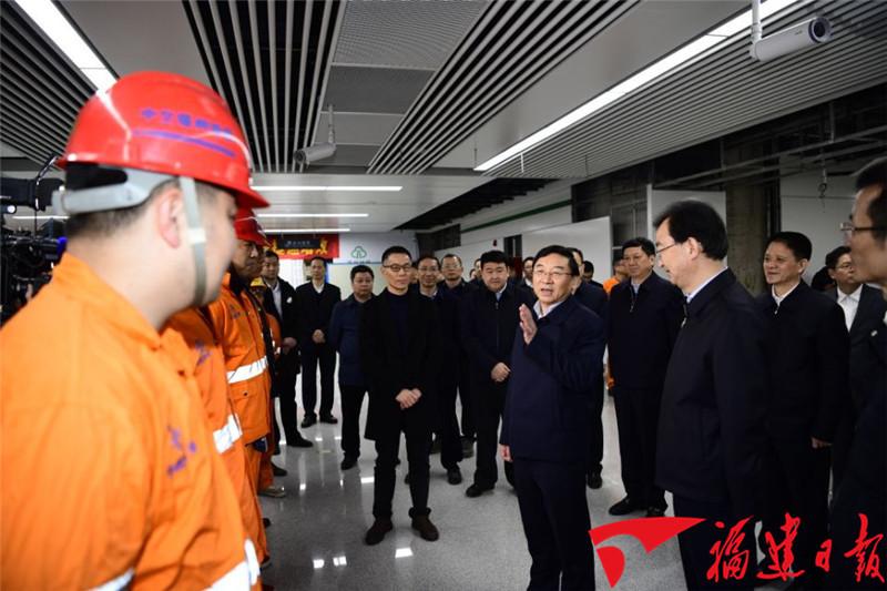 于伟国深入福州平潭生产建设一线推动节后全面恢复生产