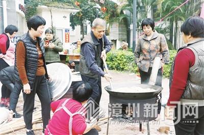 漳州平和吉祥家园小区大锅饭 吃出邻里情