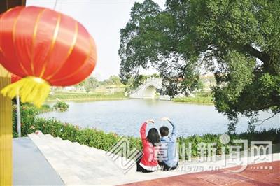 漳州南湖:月圆桥畔花正开,花好月圆等你来