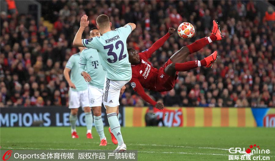 欧冠利物浦战平拜仁比分0-0 马内头球被扑出