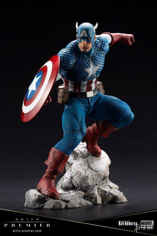 日本ARTFX系列美国队长雕像逆天还原 售价858元