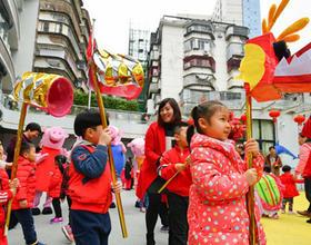 意彩娱乐鼓楼:旗汛口幼儿园里的庙会