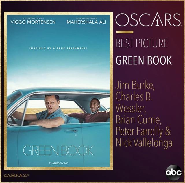 第91届奥斯卡获奖名单完整版来了!《绿皮书》获最佳影片