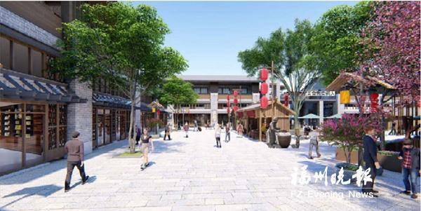 永泰县美食街4栋主体建筑全部封顶 拟5月试营业