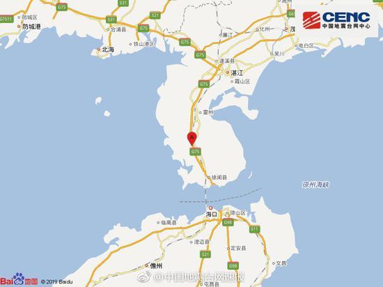 广东湛江地震最新消息 广东湛江地震具体地点强度如何