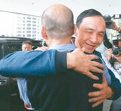 朱立伦拜访韩国瑜:两人闭门会谈一小时 强调不会是对手