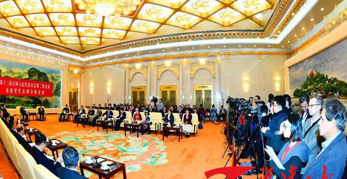 十三届全国人大二次会议福建代表团举行媒体开放日活动