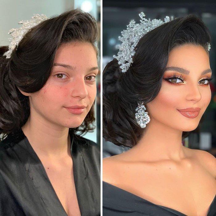 化妆如同脸上的珠宝,让这些新娘在人生最美的那天,光彩照人