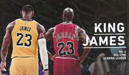 詹姆斯总分超乔丹是怎么回事 詹姆斯升至NBA历史得分榜第4位