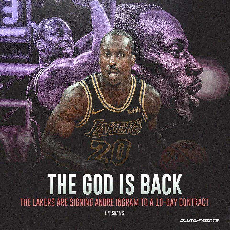英格拉姆签约湖人 等了337天他终于回到NBA