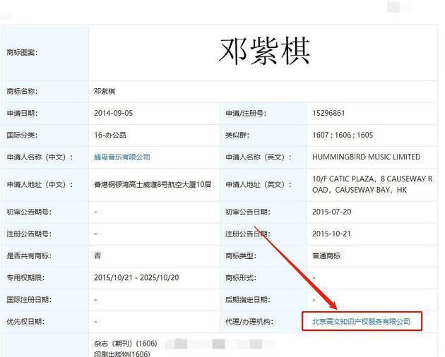 邓紫棋解约后恐被迫改名 艺名版权已被公司注册