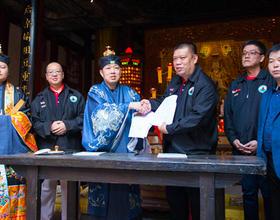 西北亚海丝信俗参访团来访海都网三坊七巷天后宫
