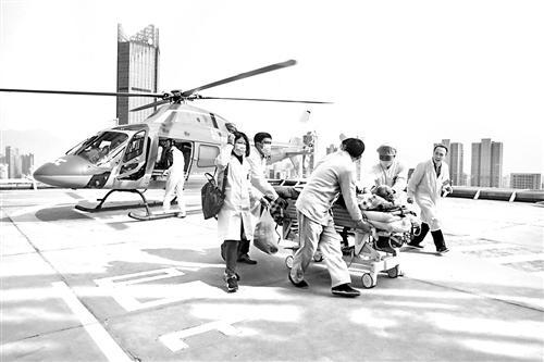 男子随时肝衰竭 直升机跨市救援