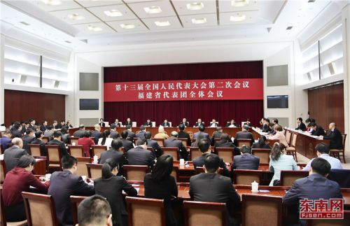 福建代表团举行全体会议 审议各项决议草案、外商投资法草案建议表决稿等
