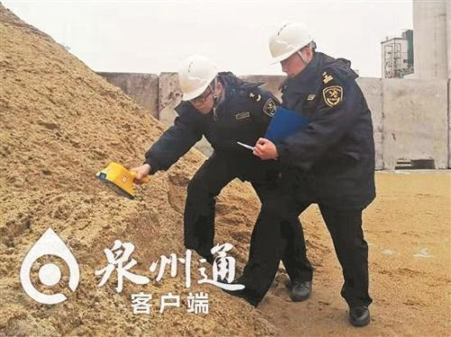 泉州成为福建省最大天然砂进口口岸 目前突破30万吨