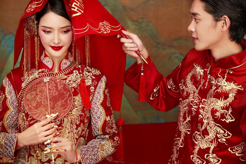 大美中国中式主题婚纱照 细节还原传统中式婚礼