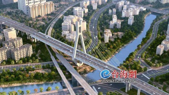 龙岩大桥明年底将全线通车 让城南和城北连成一片