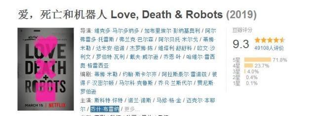 愛死亡和機器人豆瓣評分9.3分 愛死亡和機器人劇情介紹