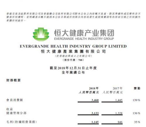 """[恒大健康全资收购香港时颖]恒大健康全年营收大增136% 大健康、汽车形成""""双核驱动"""""""
