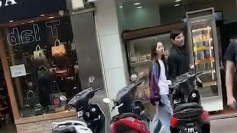 郭碧婷向佐度假被偶遇照片曝光 两人并肩漫步笑不停十分甜蜜