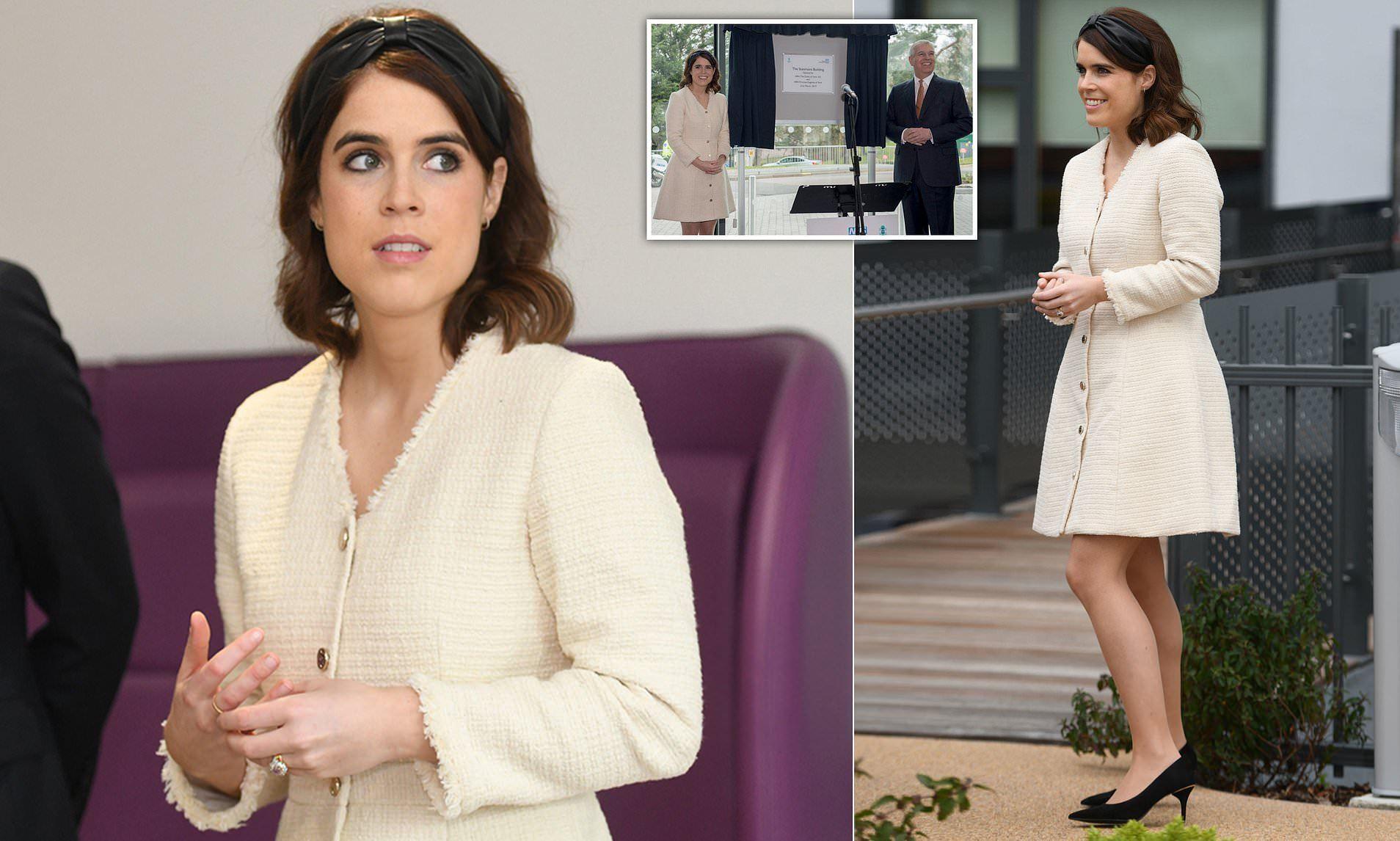 英国尤金妮公主这次美得高调!一身白裙和新婚丈夫亮相气质又高级