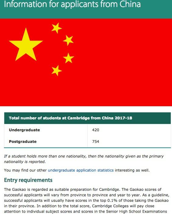 好學位房自帶優勢 劍橋大學承認中國高考成績
