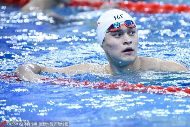 孙杨出征800自预赛获《倔强》助威 水线松耽误比赛6分钟