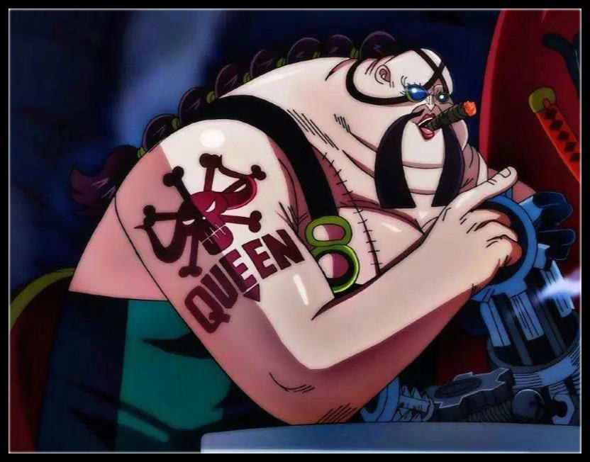 海贼王938话最新情报:QUEEN被大妈一拳击飞 黑刀的秘密被揭开