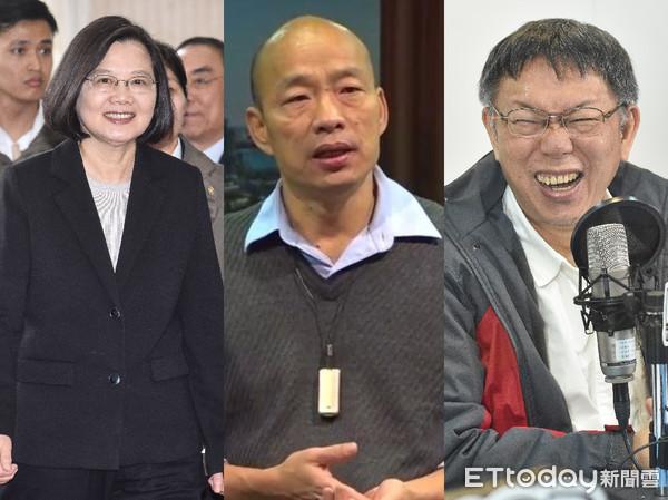 """绿媒2020""""大选""""民调:韩国瑜打败群雄 柯文哲紧追在后"""