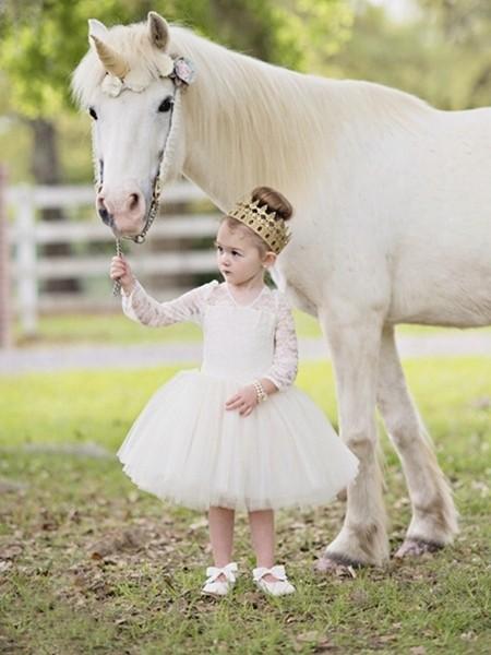 甜美可爱经典款花童裙 小公主的梦想礼服