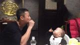 吴京怂恿儿子喝酒