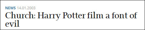 """希腊报纸""""Kathimerini"""":教会称《哈利·波特》是""""邪恶之源"""""""