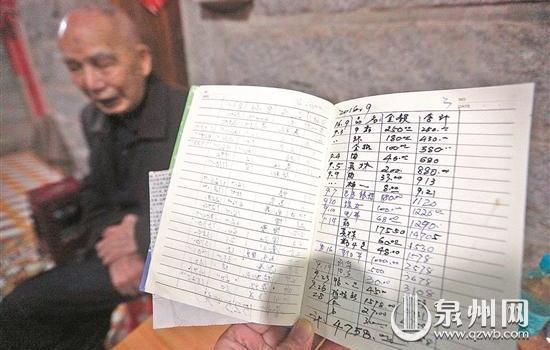 晉江永和:勤儉持家 93歲老教師捐萬元助學