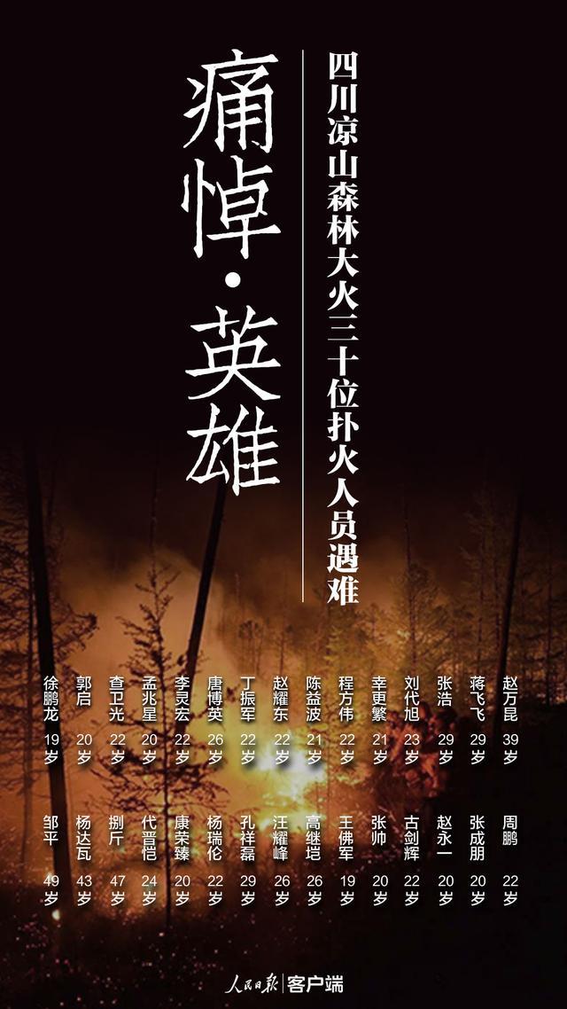 30名牺牲人员被批准为烈士,凉山火灾最新消息,救火英雄生前影像