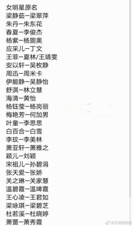 梁静茹原名叫梁翠萍是真的吗?娱乐圈哪些明星改名了你都知道吗