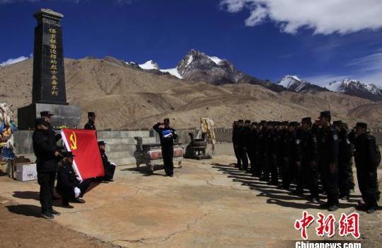 新疆邊檢總站各單位民警 多種形式緬懷先烈